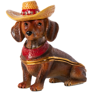Western Doxie Trinket Box