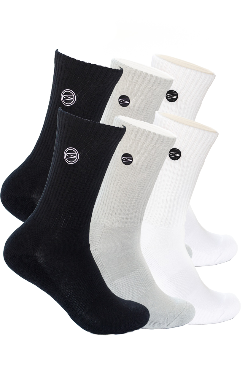 6 Pack Bundle - Essential Crew Socks