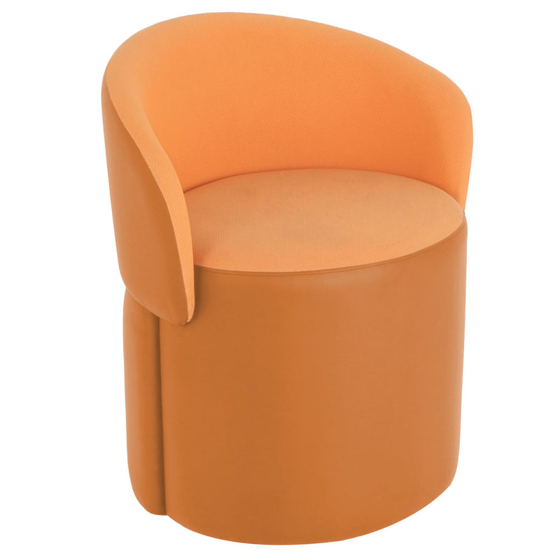 Convert Flip Back Ottoman Stool - orange