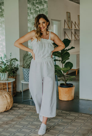 Open image in slideshow, White Linen/Rayon Lily Pants