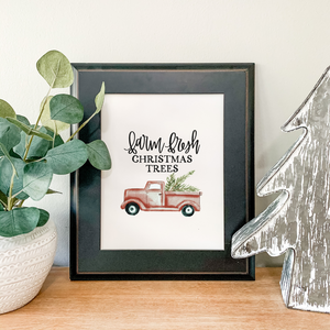Art Print - Farm Fresh Christmas Trees