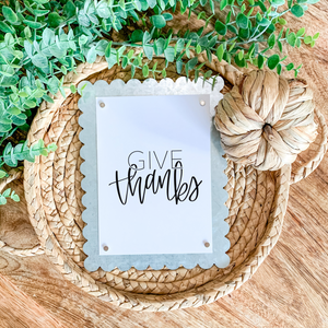 Art Print - Give Thanks - White Background