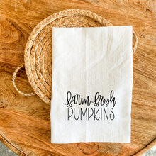 Load image into Gallery viewer, Tea Towel - Farm Fresh Pumpkins