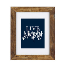 Load image into Gallery viewer, Art Print - Live Simply