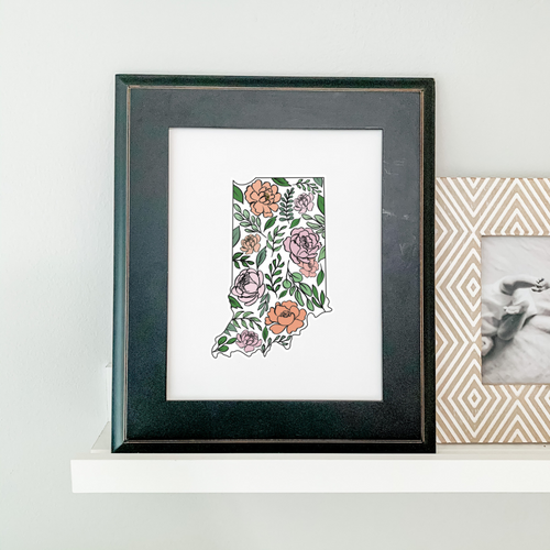 Art Print - Indiana Floral