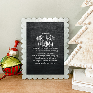 Art Print - Night Before Christmas - Chalkboard Background