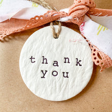 Load image into Gallery viewer, 'Thank You' Clay Ornament - Customizable Shape
