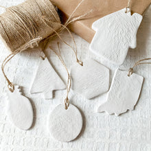 Load image into Gallery viewer, 'Merry and Bright' Clay Ornament - Customizable Shape