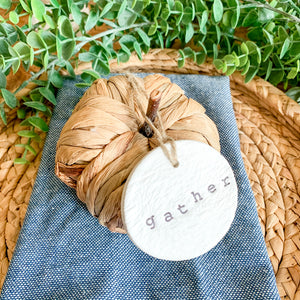 'Gather' Clay Ornament - Customizable Shape