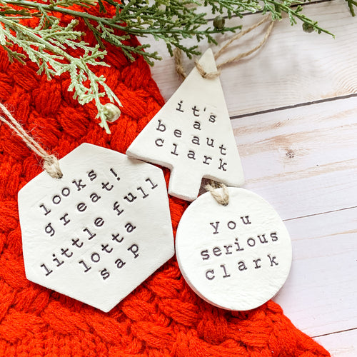 Christmas Vacation Ornament Set - 3 Ornaments