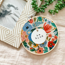 Load image into Gallery viewer, 6 Inch Hoop with Rifle Paper Co. Canvas Garden Party Fabric and Circle Ornament