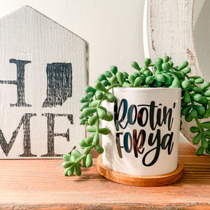 Plant Pot with Hand Lettered Phrase