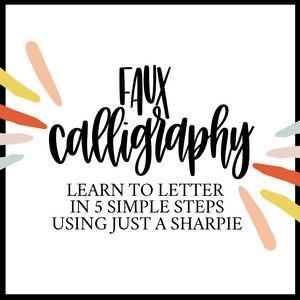 Learn to Letter Workbook - Faux Calligraphy