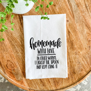 Tea Towel - Homemade with Love