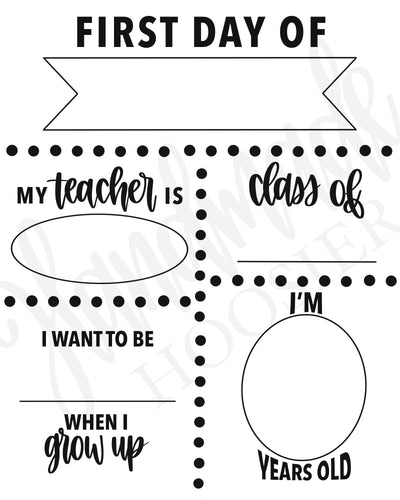 Digital Download Print - Back to School