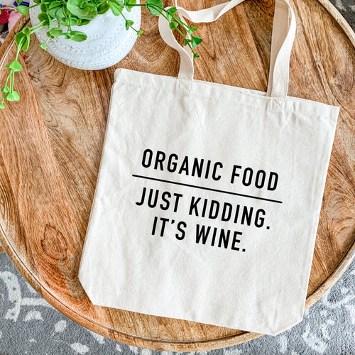 Canvas Tote - Organic Groceries (NOT!)