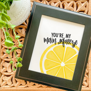 Art Print - Main Squeeze with Single Lemon