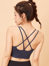 Beautiful back that does not shake Sports bra