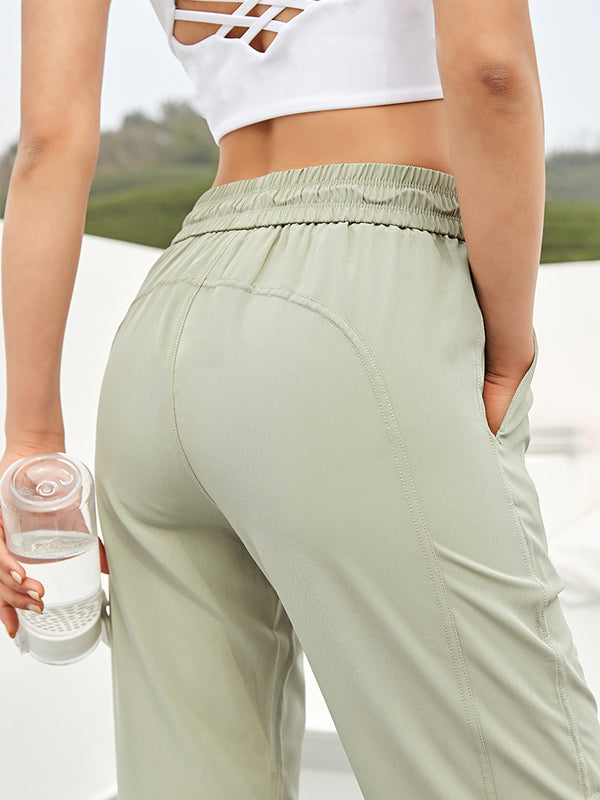 Elastic band high waist sports pants