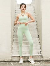 X neck high bullet fashion yoga bra