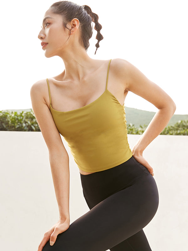 Tank Top-Yoga Wear-With Cup