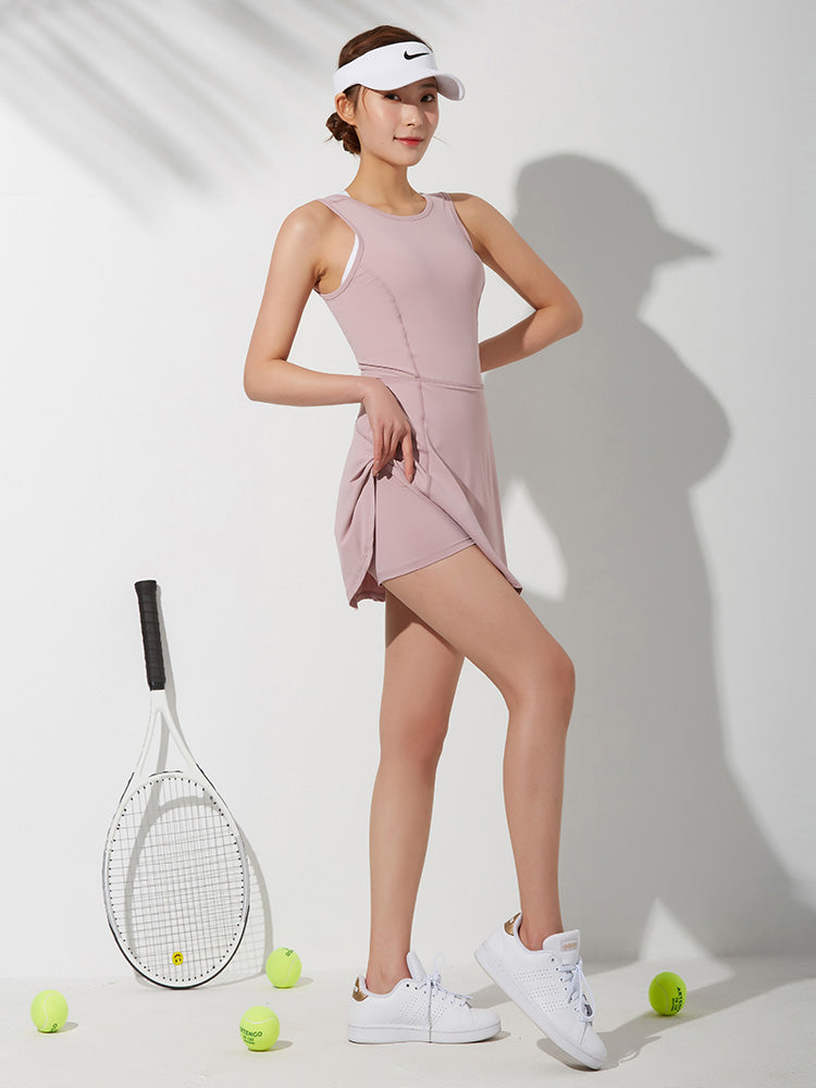 Back tennis dress