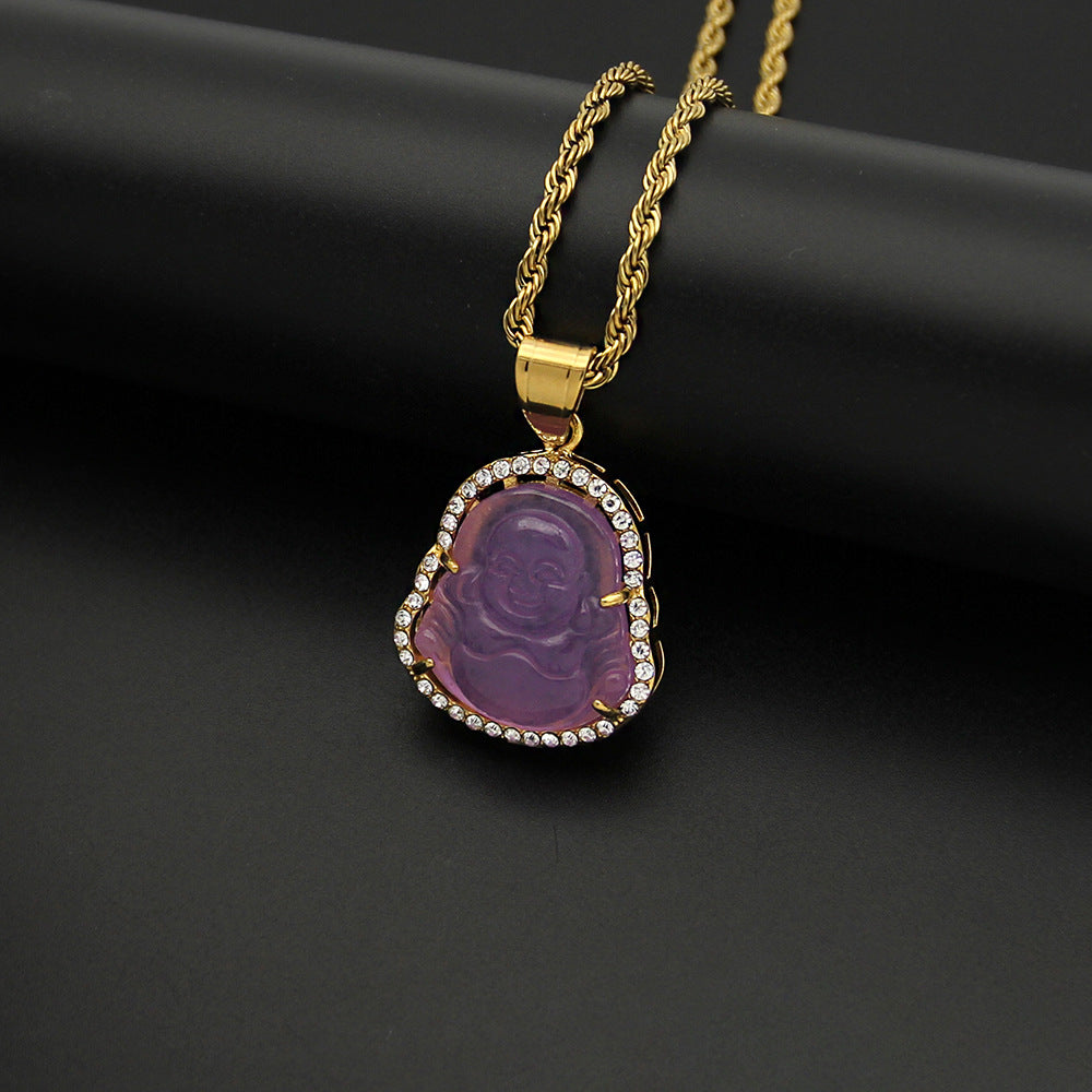 Purple Buddha Necklace