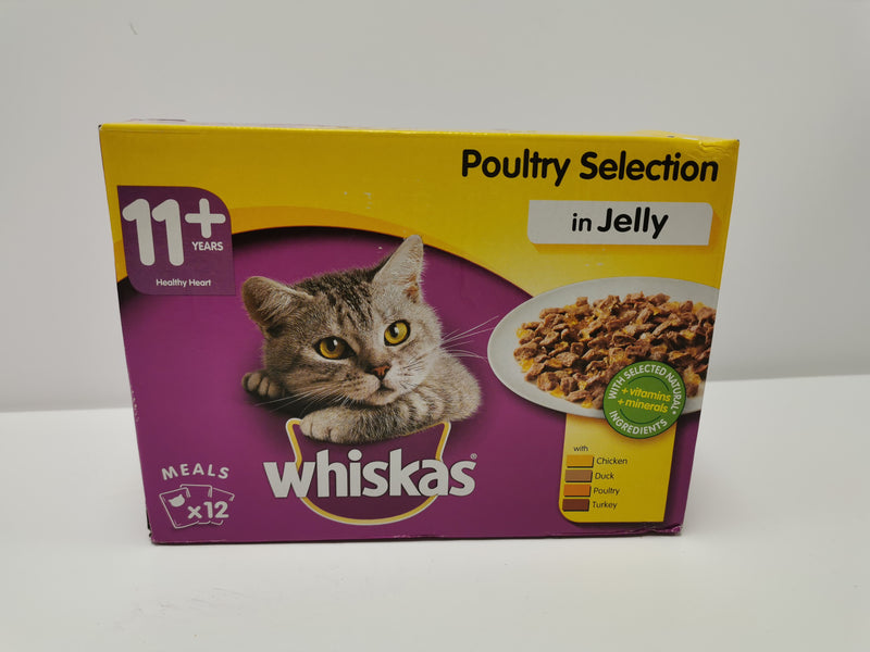 Whiskas Poultry Selection in Jelly 11+ 12 x 100g