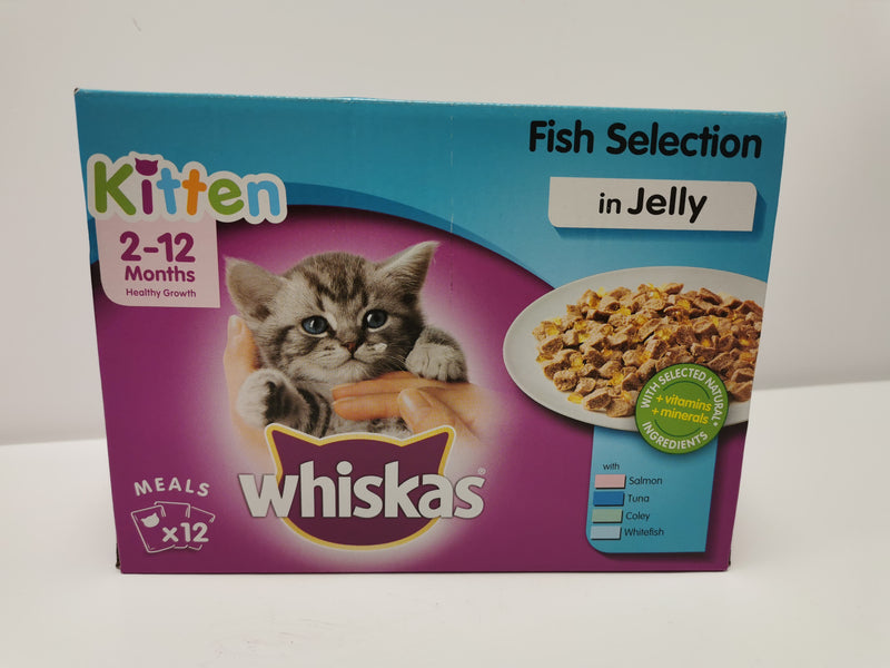 Whiskas Kitten Fish Selection in Jelly 2 - 12 month 12 x 100g