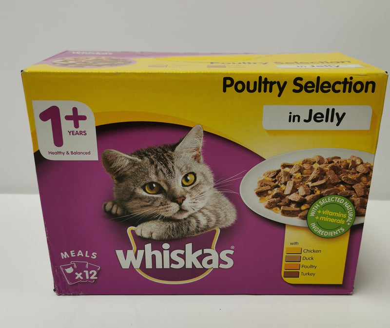 Whiskas Poultry Selection in Jelly 1+ 12 x 100g