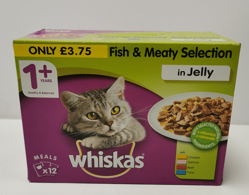 Whiskas Fish and Meaty Selection in Jelly 1+ 12 x 100g
