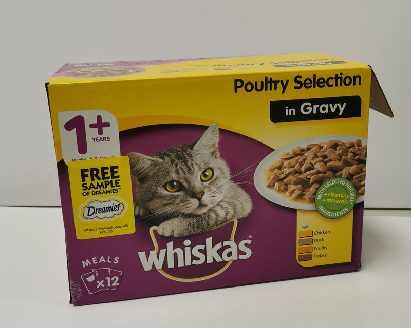 Whiskas Poultry in Gravy +1 12 x 100g