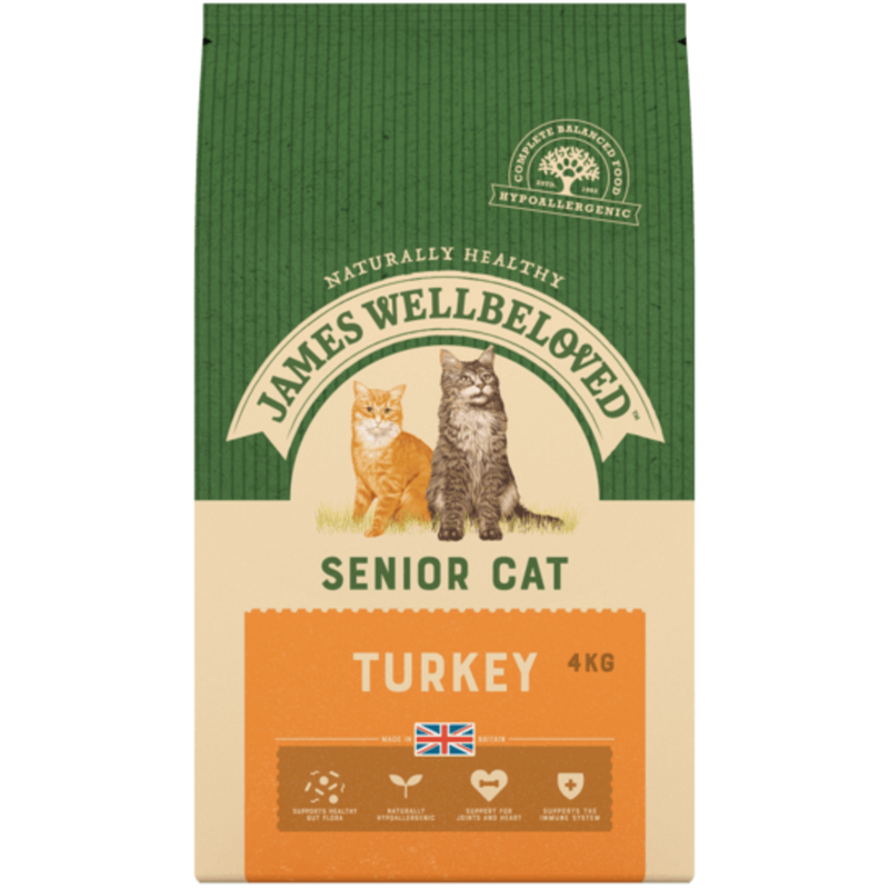 James Wellbeloved Senior Cat Turkey 4K