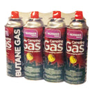 Kingfisher 4 Pack Butane Camping Gas Canister