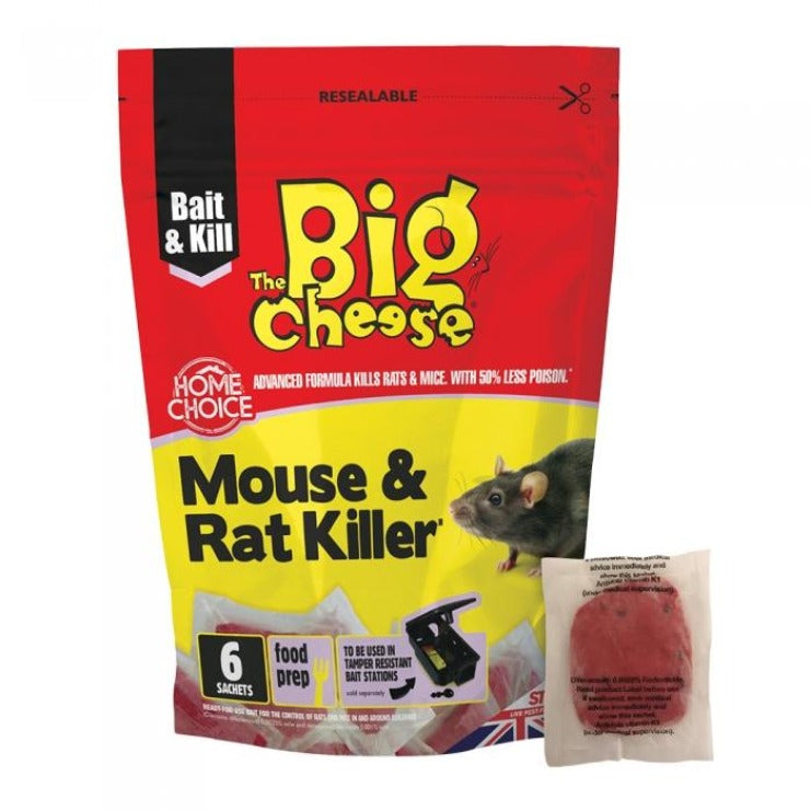 The Big Cheese Rat & Mouse Killer Pasta Sachet 6pk