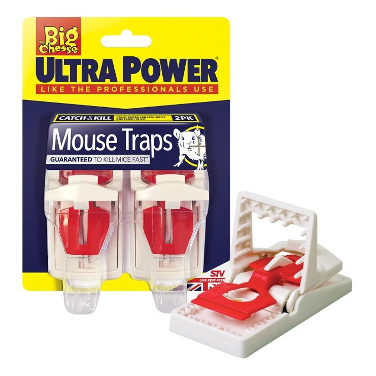 The Big Cheese Ultra Power Mouse Trap Twin Pack