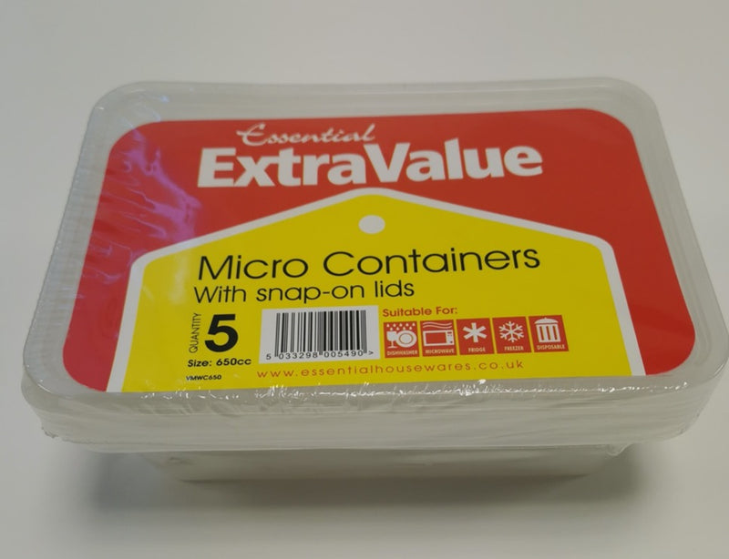 Microwave Container 5pk