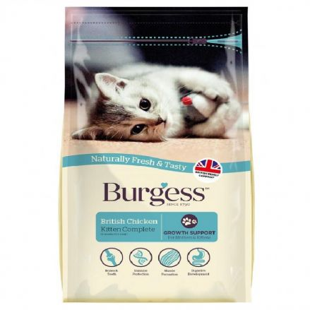 Burgess Kitten Food - Chicken 1.5kg