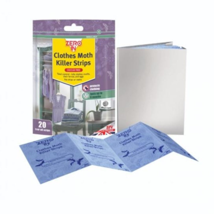 Zero In Clothes Moth Killer Strips 20pk