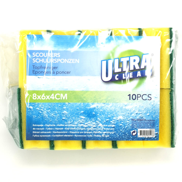 UltraClean Sponge Scourers 10 Pack