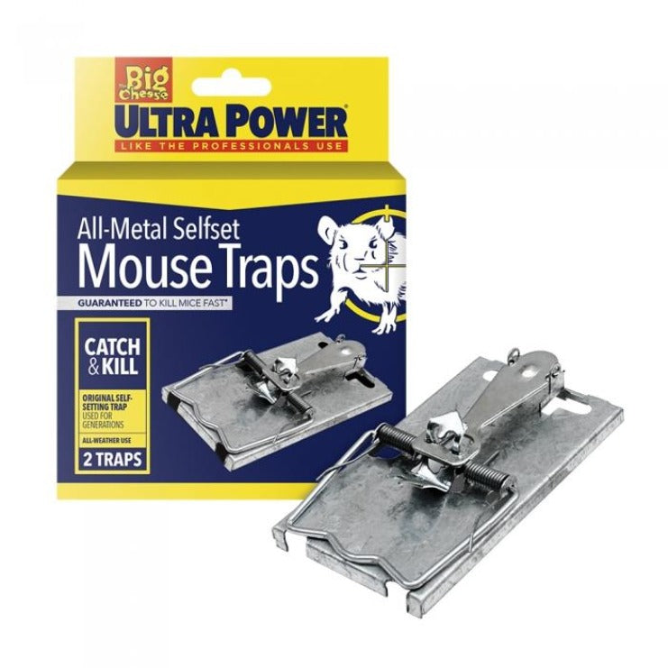 The Big Cheese Ultra Power Self Set Mouse Trap Twin Pack