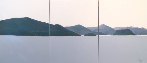 Howe Sound in Blues (triptych), 2018