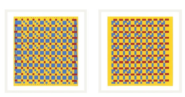 Frobel's 14th gift-6 Harness Yellow v2 (diptych),