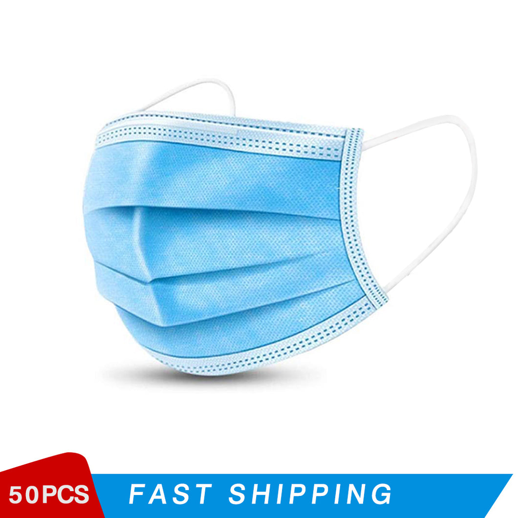 Disposable 3-layer Protective Dustproof Mask (50 PCS)