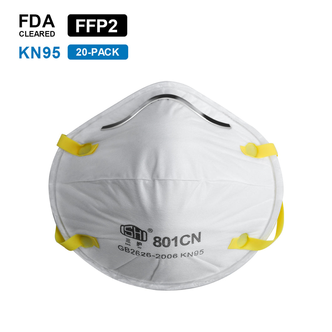 GB2626-2006 KN95 Safety Virus Protection Face Mask(For Box/20pcs)