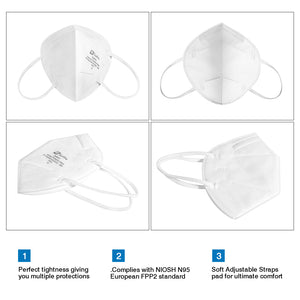Sunfire ZM950V Disposable Particulate Respirator and Surgical N95 Face Mask(20PCS/Box)