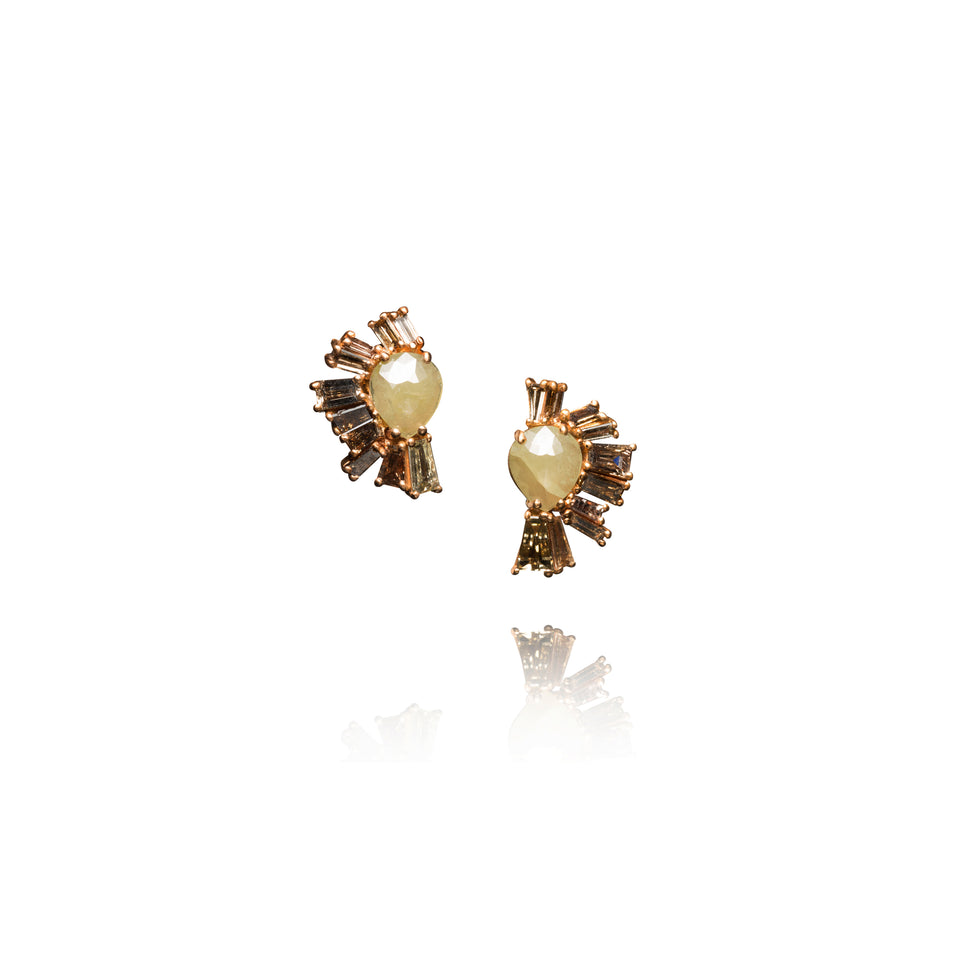 Roman Baguette Stud Earrings