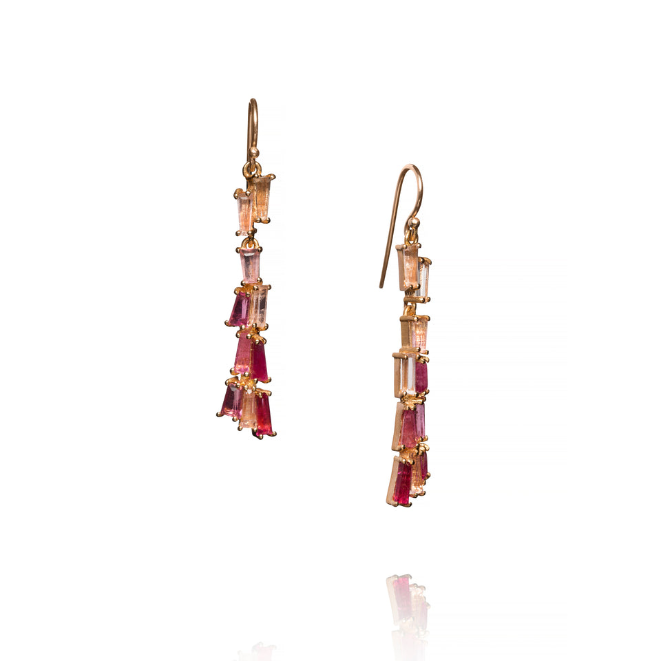 Tassel Earrings - Rubellite
