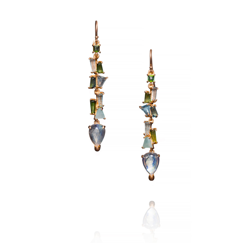 Mosaic Linear Drop Earrings