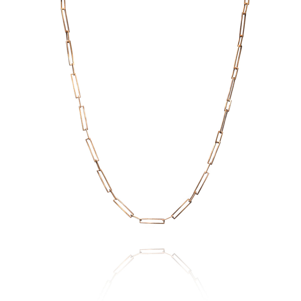 Hammered Rectangle Handmade Chain